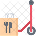 Bag Scooter Food Icon