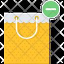 Bag Minus Shopping Icon