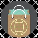 Bag Globe Paper Icon