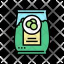 Bag Peas Color Icon