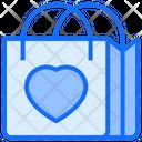 Bag Heart Shopping Icon