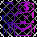 Bag Dollr Briefcase Icon