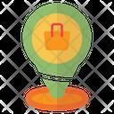 Pin Location Bag Icon
