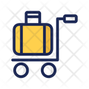 Bag Service Airport Service Suitcasetrolley Icon