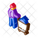 Homeless Bag Shop Icon