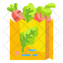 Bag Vegetables Grocery Groceries Icon