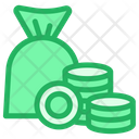 Bag With Coins Icon
