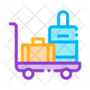 Baggage Cart Valise Icon