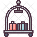 Baggage Bellboy Trolley Icon