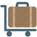 Trolly With Baggage Icon