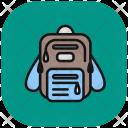 Bagpack Portfolio Suitcase Icon