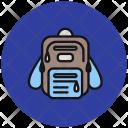 Bagpack School Bag Education Icon