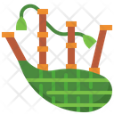 Bagpipe St Patrick Day Music Icon