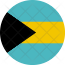Bahamas Flag World Icon