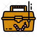 Bait Tackle Box Worms Hook Icon