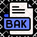 Bak File Type File Format Icon