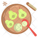 Baked Pears With Ice Cream Icon