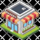 Bakery Breakfast Bakery Bakery Building Icon