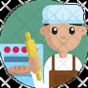Bakery Baker Man Icon