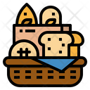 Bakery Breads Basket Icon