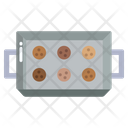 Baking Tray Cookies Baked Icon