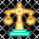 Law Lesson Color Icon
