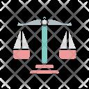 Balance Ethics Glyph Icon