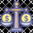 Balance Scale Financial Balance Measuring Scale Icon