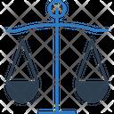 Balance Scale Judgment Law Symbol Icon