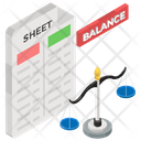 Balance Sheet Financial Research Business Report Icon
