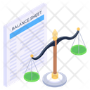 Law Document Legal Document Balance Sheet Icon
