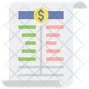 Balance Sheet Account Sheet Finance Report Icon