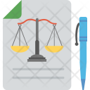 Legal Document Balance Icon