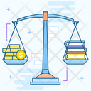 Balanced Education Education Scale Weighing Education Icon