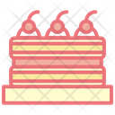 Balck Forrest Cake Cherry Icon