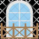 Balcony Jharoka Overhanging Icon