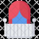 Balcony Curtain Building Icon