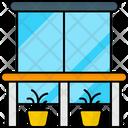 Balcony Window Window Frame View Icon
