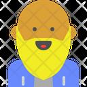 Bald bearded Icon