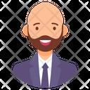 Bald Man Middle Aged Man Hairless Man Icon