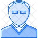 Baldness Old Glasses Icon