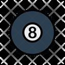 Ball Billiard Cue Icon