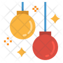 Ball Garland Decoration Icon