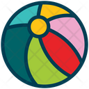 Ball Volley Holiday Icon