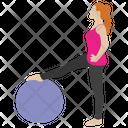 Workout Exercise Fitness Ball Aerobics Icon