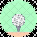Ball Tee Golf Tee Golf Ball Icon