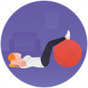 Ball Workout Exercise Ball Rhythmic Gymnastic Icon