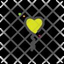 Ballon Heart Love Icon