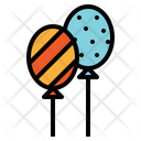 Balloon Birthday Celebration Icon