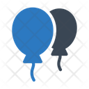Balloon Fly Decoration Icon